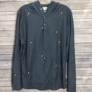 Volcom Stoned Hooded Henley Shirt